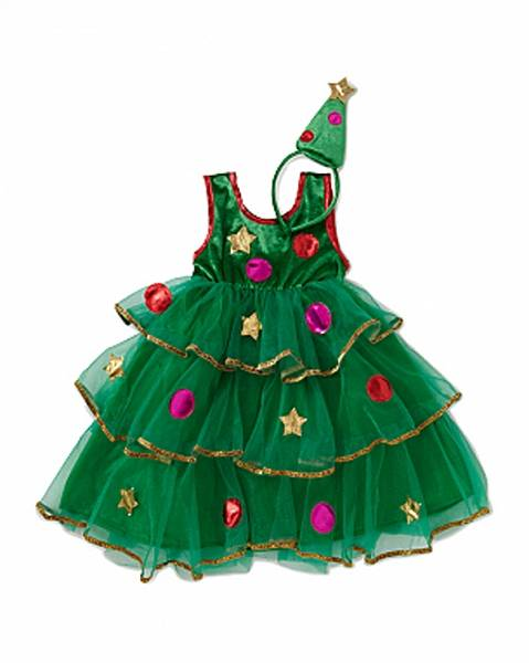 Новогодние костюмы для девочек елочка своими руками